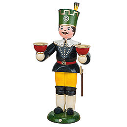 Bergmann mit Kerzen  -  22cm