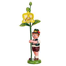 Blumenkind Junge mit Orchidee  -  11cm