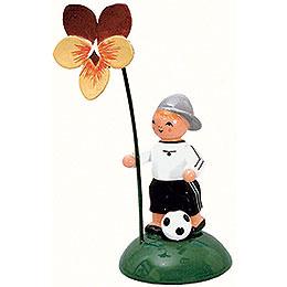 Boy with flower  -  10cm / 4 inch