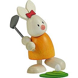 Bunny Emma golfing, teeing off   -  9cm / 3.5inch