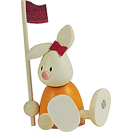 Bunny Emma golfing with flag   -  9cm / 3.5inch