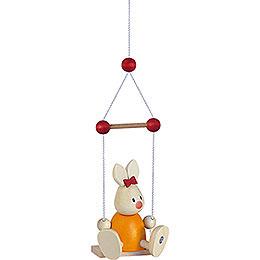 Bunny Emma on swing   -  9cm / 3.5inch