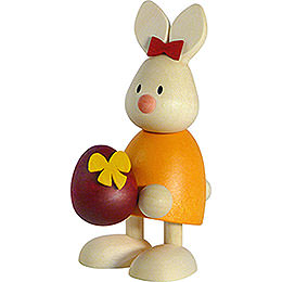 Bunny Emma with large egg  -  9cm / 3.5inch