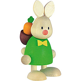 Bunny Max with back pack rod and carrot  -  9cm / 3.5inch