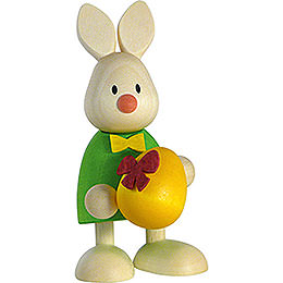 Bunny Max with large egg  -  9cm / 3.5inch