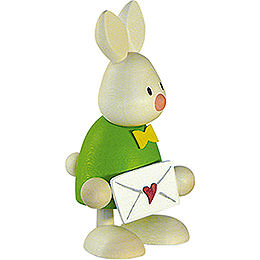 Bunny Max with love letter  -  9cm / 3.5inch