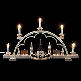 Candle Arch  -  Carolers Village  -  57cm / 22 inch  -  120 V Electr. (US - Standard)