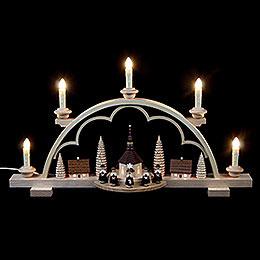 Candle Arch  -  Carolers Village  -  57cm / 22 inch  -  120 V electr. (US - standard)