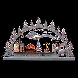 Candle Arch  -  Christmas Village  -  62x37x5,5cm / 24x14x2 inch