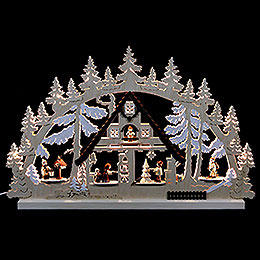 Candle Arch  -  Christmashouse  -  74x47x5,5cm /29x19x2 inch