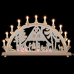 Candle Arch Forest house  -  68x35cm / 27x14inch