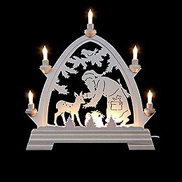 Candle Arch  -  Gotic Santa Claus with Deer 42x42,5cm / 2 inch