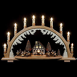 Candle Arch  -  Musicians and Forest People  -  67x42cm / 26x17 inch
