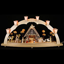Candle Arch  -  Nativity  -  80x41cm / 31.5x16 inch