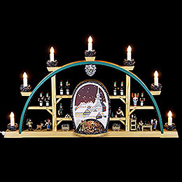 Candle Arch  -  Scenes from the German Erzgebirge  -  72 x 41cm / 28 x 16 inch