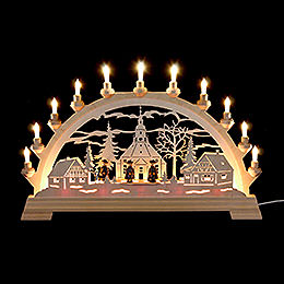 Candle Arch Seiffen Church with Carolers  -  65 x 40cm / 26 x 16 inches