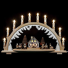 Candle Arch  -  Winterchildren  -  67 x 42cm / 26 x 17 inch