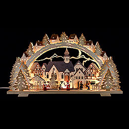Candle arch Christmas time exclusive  -  72x41x7cm / 28.3x16.1x2.8inch