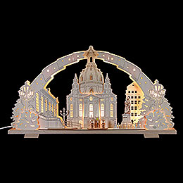 Candle arch Dresden Church of our Lady  -  72x41x7cm / 28x16x2.8inch