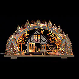 Candle arch 'Forest hut'  -  72x41x6,5cm / 28.3x16.1x2.3inch