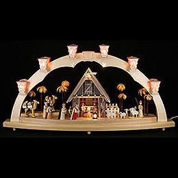 Candle arch Nativity  -  80x41cm / 31.5x16inch