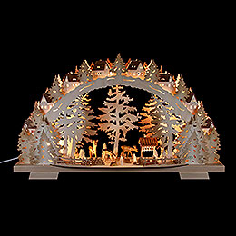 Candle arch forest scenery  -  72x41x13cm / 28.3x16.1x5.1inch