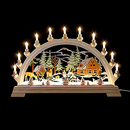 Candle arch forester's house, colored  -  65x40cm / 26x17.5inch