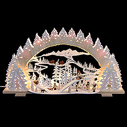 Candle arch sledding on Goat Mountain  -  72x41x7cm / 28x16x5inch