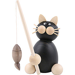 Cat Hilde with fish  -  8cm / 3.1inch