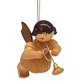 Christbaumschmuck Engel mit Trompete  -  natur  -  schwebend  -  5,5cm