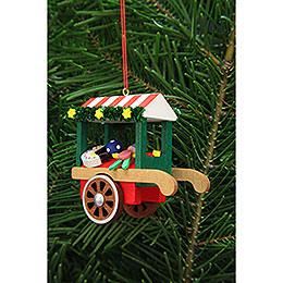 Christbaumschmuck Marktwagen mit Spielzeug  -  7,1cm