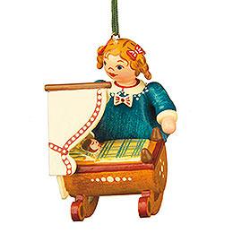 Christbaumschmuck Puppenmutti  -  5cm