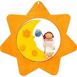 Christbaumschmuck Sternen - Mond - Engel mit Laterne  -  8cm