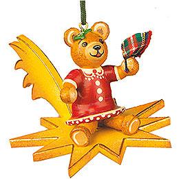 Christbaumschmuck Teddy - Tsch�ss  -  5cm