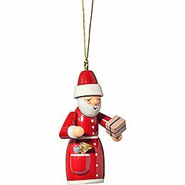 """Christbaumschmuck """"Weihnachtsmann mit Geschenk""""  -  7cm"""