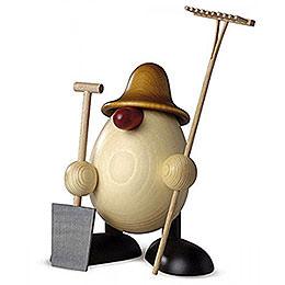 Egghead Father Benno, gardener, brown  -  15cm / 5.9inch