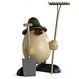 Egghead Father Benno, gardener, green  -  15cm / 5.9inch
