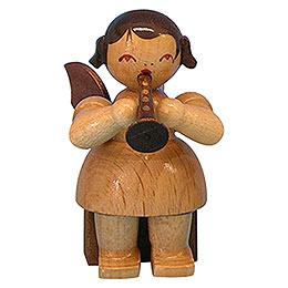 Engel mit Flöte  -  natur  -  sitzend  -  5cm