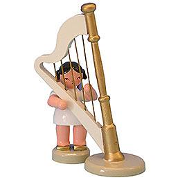 Engel mit Harfe  -  Rote Flügel  -  stehend  -  6cm