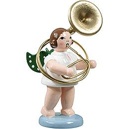 Engel mit Sousaphon  -  6,5cm