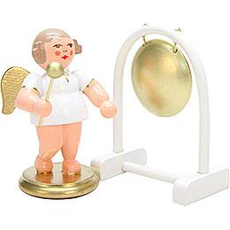 Engel weiß/gold mit Gong  -  6,0cm