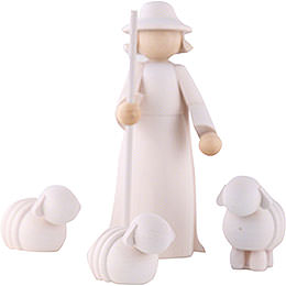 Figurines Shepherd with sheeps  -  11cm/4inch