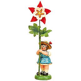 Flower Girl with Columbine  -  11cm / 4,3 inch