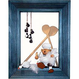 Frame for Edge Stool  -  42cmx33cmx8cm  -  Color: Brown