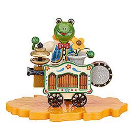 Frog street organ player  -  8cm / 3inch