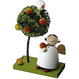 Guardian Angel with Apple and Apple Tree  -  3,5cm / 1.3 inch