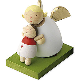 Guardian angel with dolly  -  3,5cm / 1.3inch
