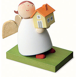 Guardian angel with house  -  3,5cm / 1.3inch