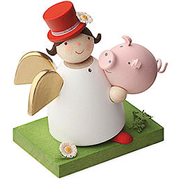 Guardian angel with lucky pig  -  3,5cm / 1.3inch