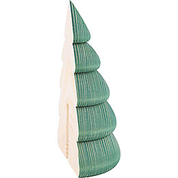 Halber Baum für Wandrahmen grün  -  11,5cm